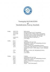 Program for lejren 2016